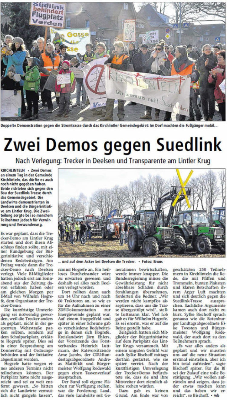 Demo gegen Suedlink