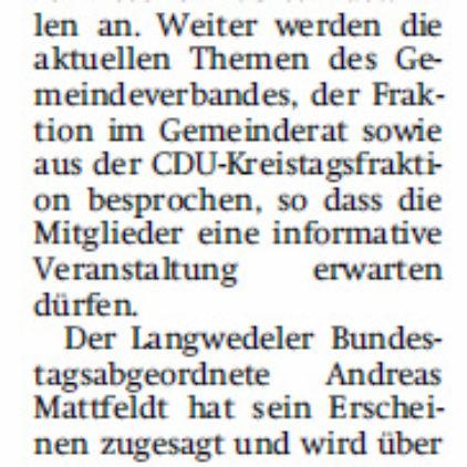 CDU tagt im Schloss Etelsen