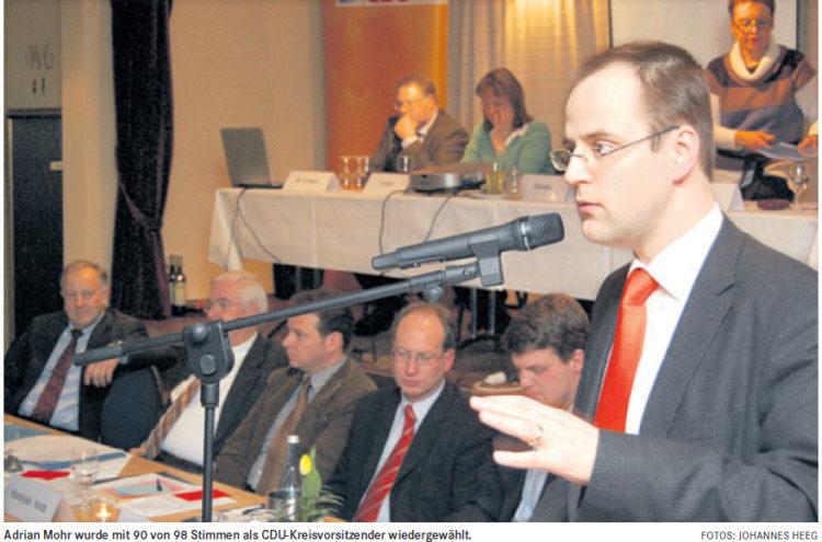 Mattfeldt beim Kreisparteitag