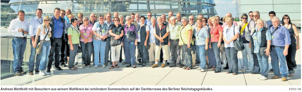Mit Andreas Mattfeldt in Berlin den Kabinettssaal besichtigt