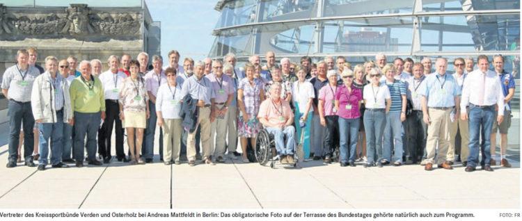 Osterholzer und Verdener Sportler bei Mattfeldt in Berlin
