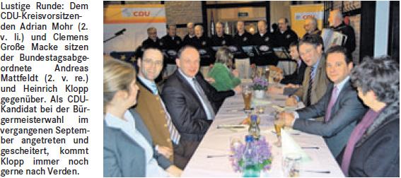 Motivationstraining beim politischen Aschermittwoch der Kreis-CDU