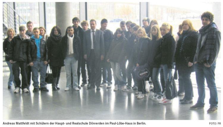 Schüler besuchen den Reichstag