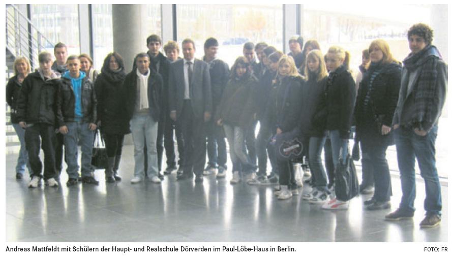 Schüler zu Besuch im Reichstag