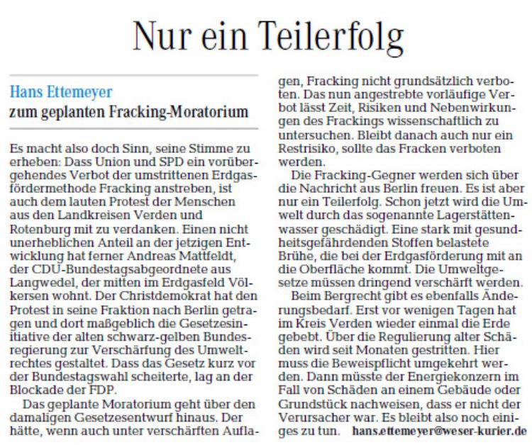 zum Thema Fracking