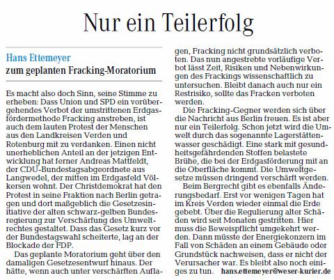 VN 11.11.13 Kommentar Fracking