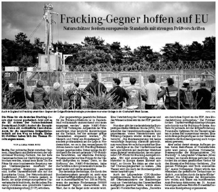 Thema: Fracking