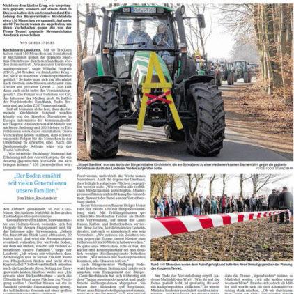Landwirte protestieren gegen Stromtrasse
