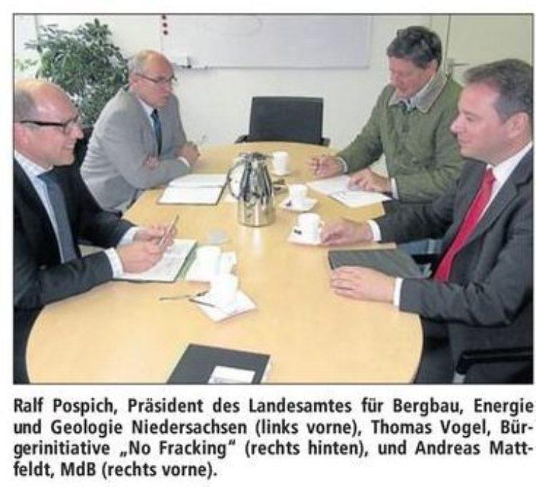 Mattfeldt zu Gesprächen beim Landesbergamt