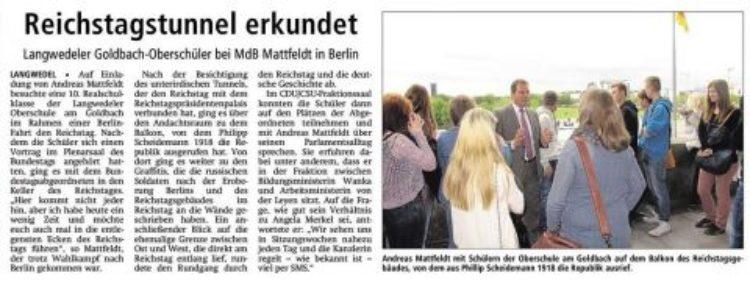 Besuch  im Deutschen Bundestag