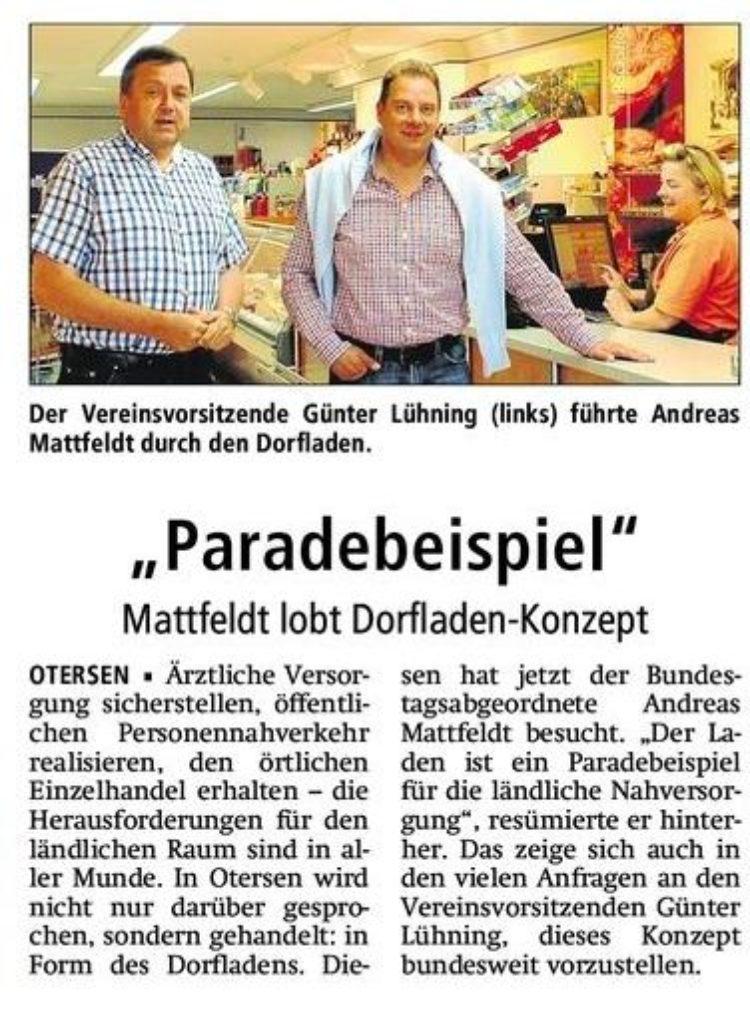 Mattfeldt besucht Dorfladen