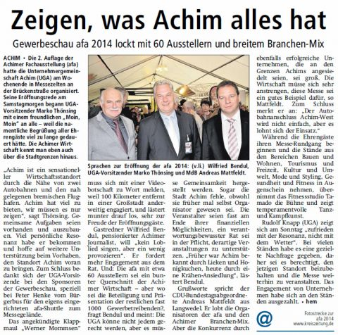 V A Z 14 05 12 Gewerbeschau Achim