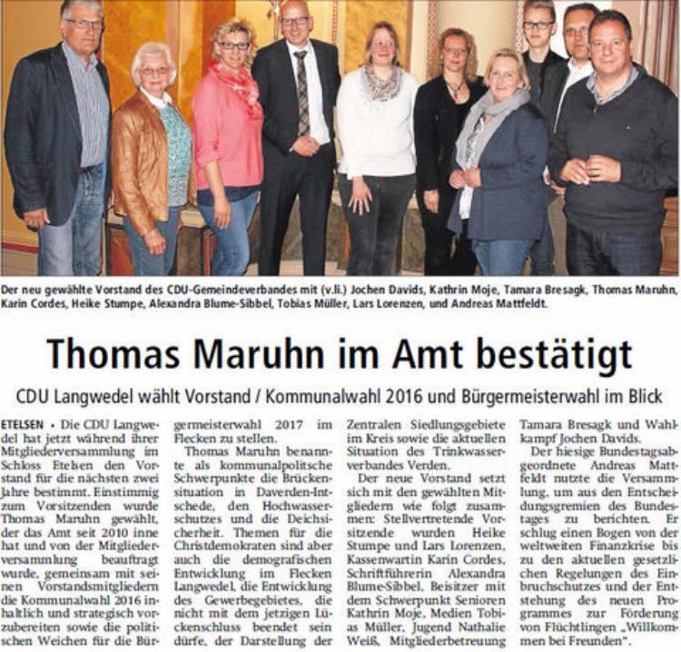 Mattfeldt besucht Mitgliederversammlung in Langwedel