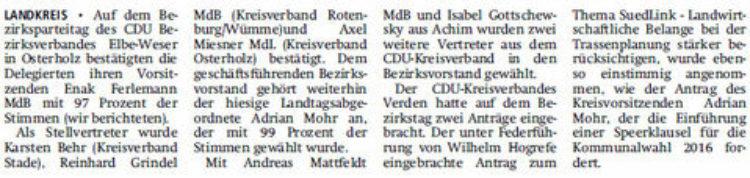 Mohr und Mattfeldt im Bezirksvorstand