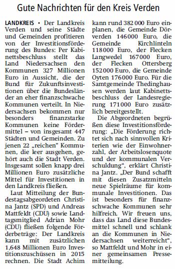 V A Z 15 06 25 3 Mio. Euro  Investitionsförderung