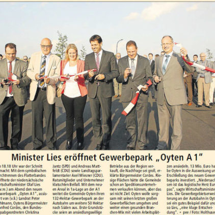 "Eröffnung Gewerbepark ""Oyten A 1"""