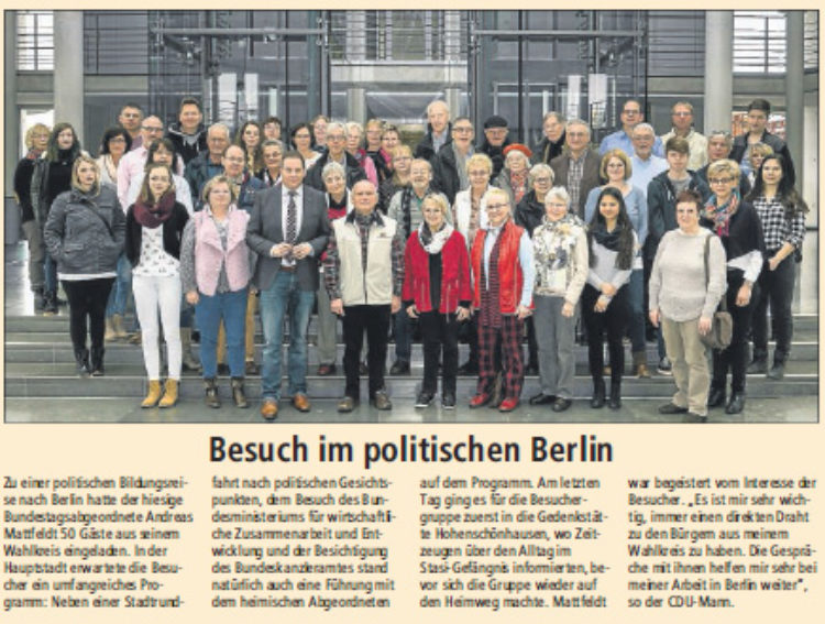 Besuch im politischen Berlin