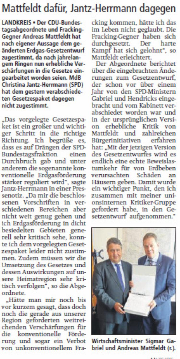 Fracking-Gesetz im Bundestag verabschiedet