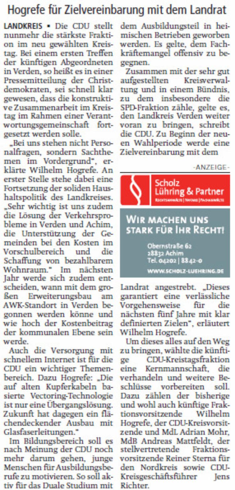 CDU stellt Weichen für Zukunft des Kreises