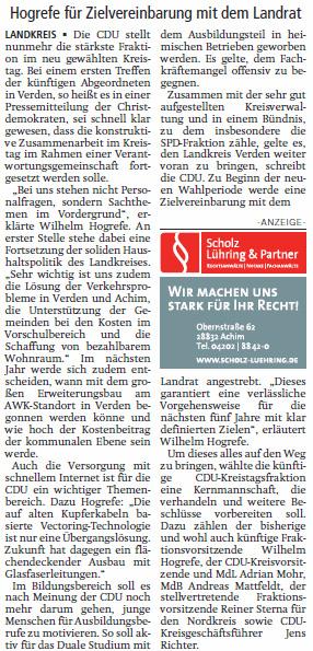 V A Z 16 09 17 CDU stellt Weichen im Kreistag