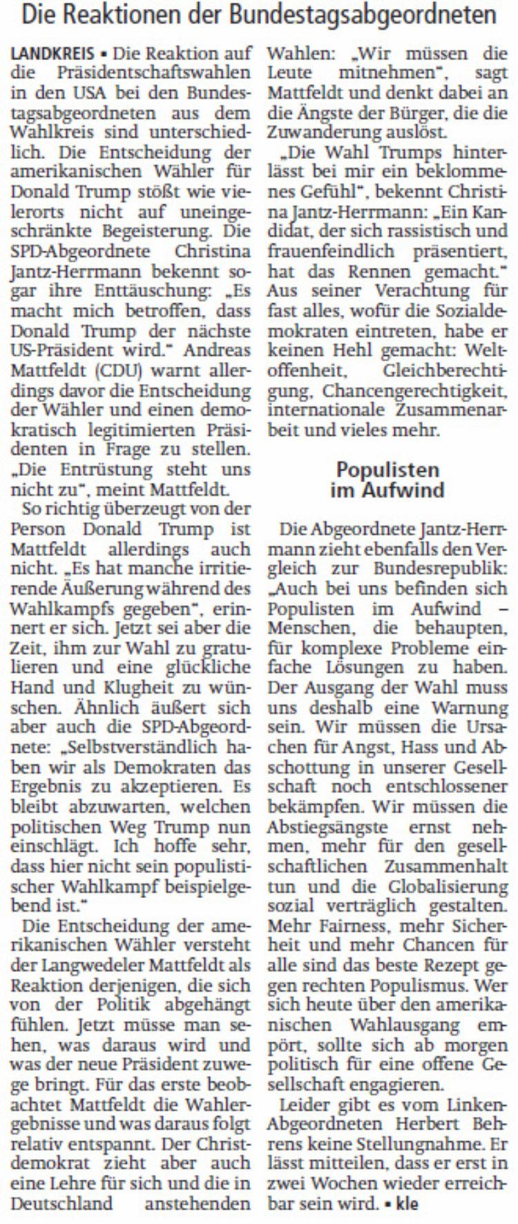 """""""Trump-Wahl als Demokrat akzeptieren"""""""