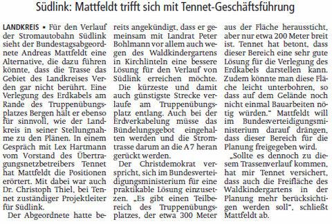 V A Z 16 12 21 Treff mit Hartmanm Suedlink