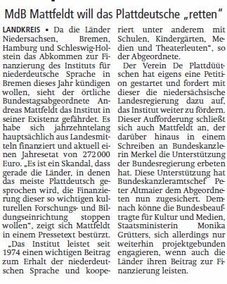 V A Z 17 01 25 Plattdeutsche Sprache