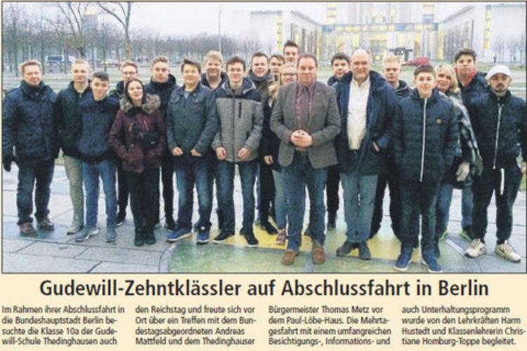 Besuch aus Thedinghausen