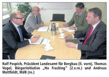 Initiative und Mattfeldt beim Landesbergamt