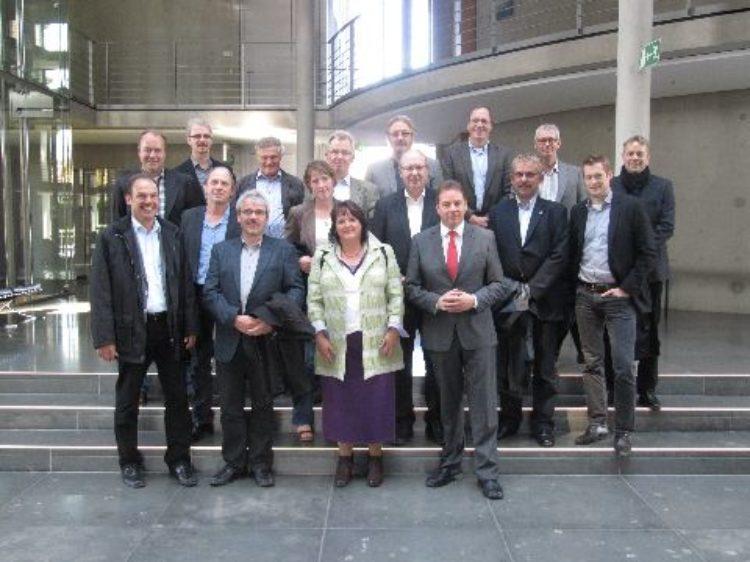 Vor Ort umgesehen: neue Volksbank Aller-Weser eG besuchte mich in Berlin