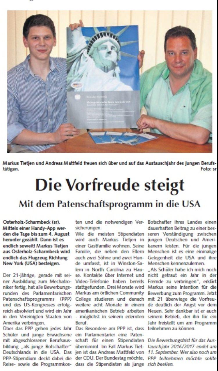Osterholzer Anzeiger vom 26.07.2015
