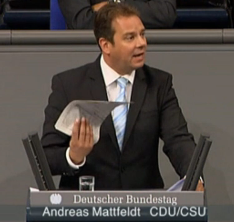 Heute: Rede im Deutschen Bundestag