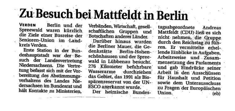 Zu Besuch bei Mattfeldt in Berlin