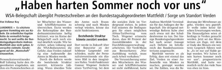 """""""Haben harten Sommer noch vor uns"""""""
