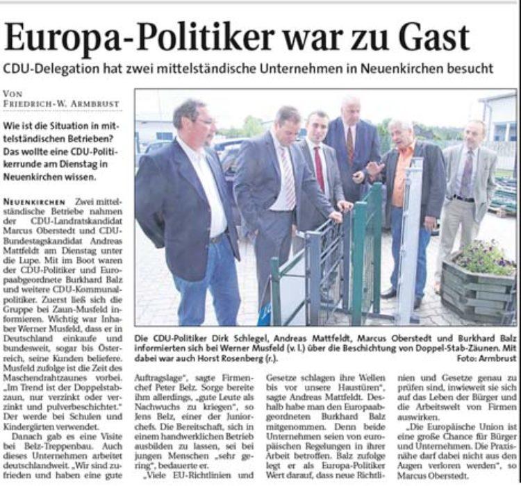 Europa-Politiker war zu Gast