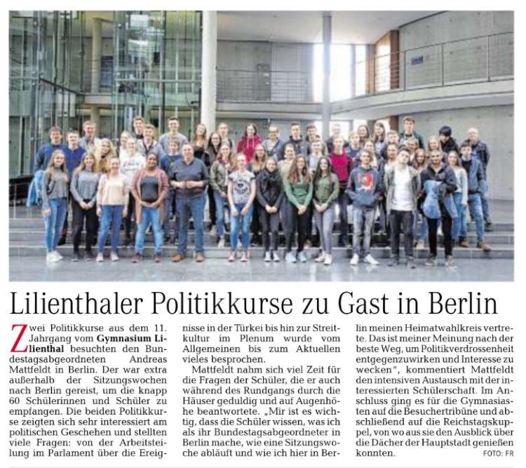 Lilienthaler Schüler in Berlin