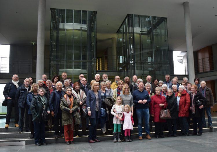 50 Gäste aus dem Wahlkreis zu Besuch in Berlin