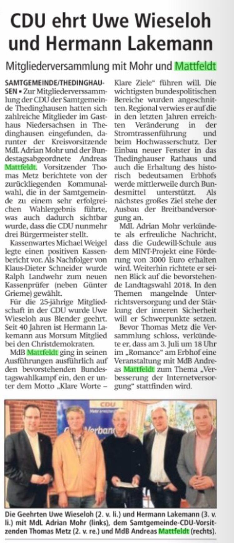 Mitgliederversammlung Thedinghausen