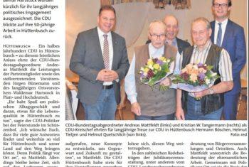 50 Jahre CDU-Ortsverband Hüttenbusch