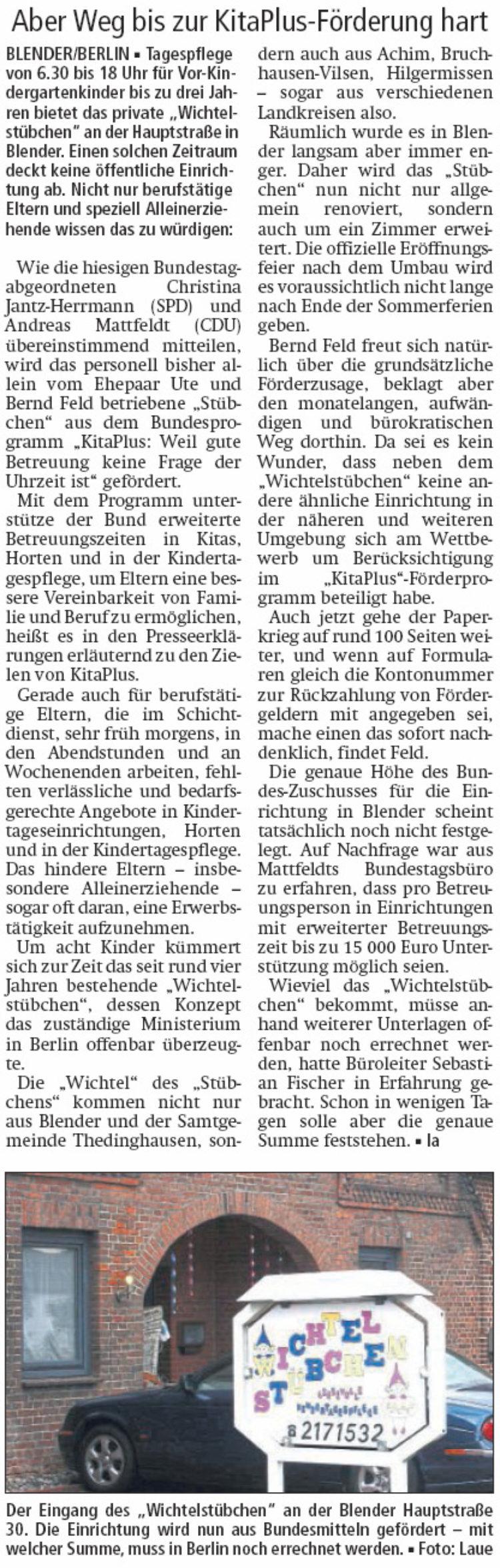 """Bund belohnt Konzept des """"Stübchens"""""""