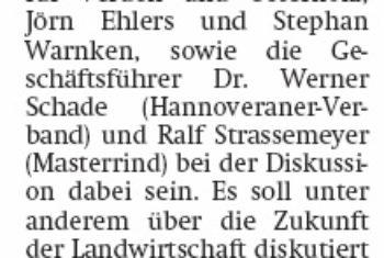 Bundesminister Schmidt in Verden