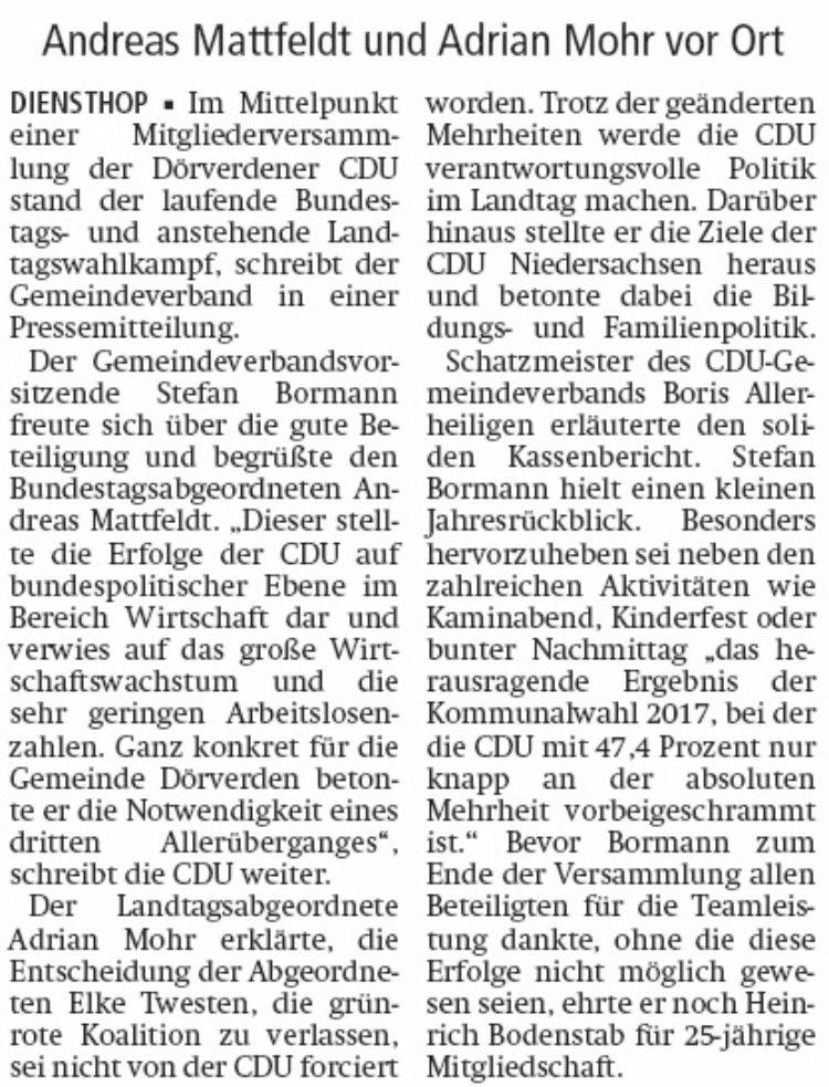 Wahlkampf und andere Themen der CDU-Basis