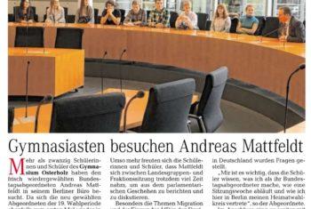 Gymnasiasten besuchen Berlin