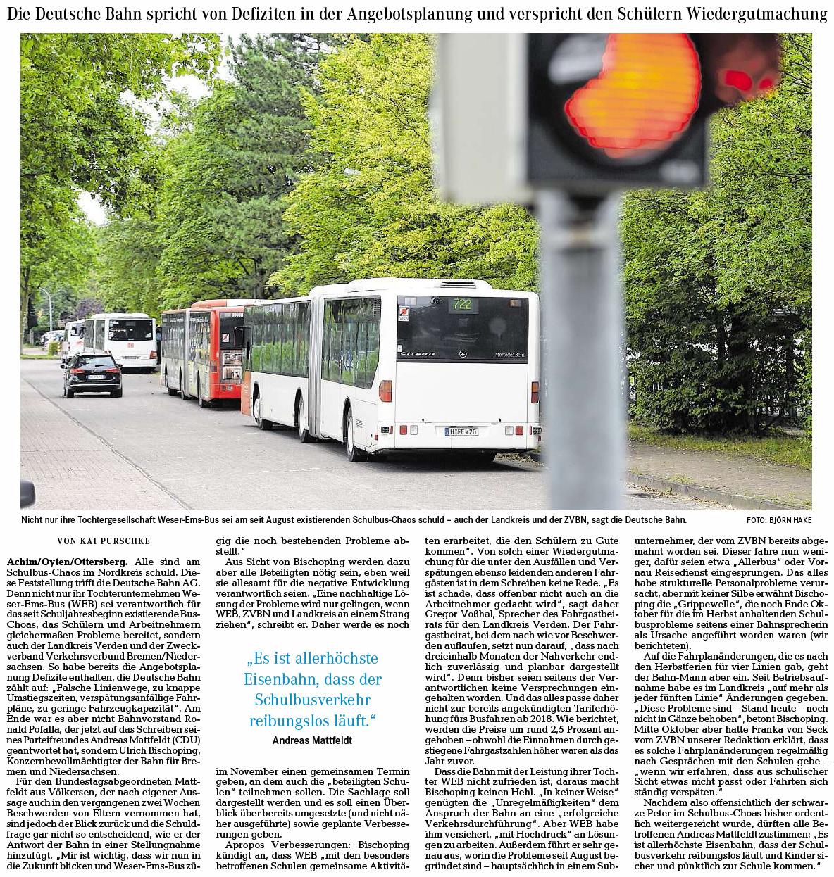 Schuld Am Bus Chaos Haben Die Anderen Andreas Mattfeldt