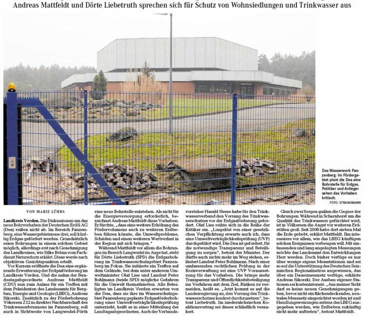 Gegen Gasförderung in Panzenberg