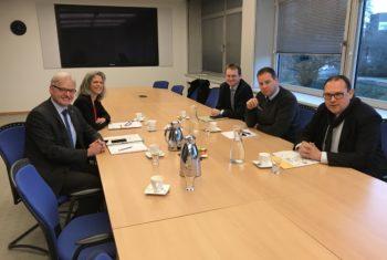 Erdgasförderung: Im Gespräch mit dem Präsidenten des Landesbergamtes Sikorski in Hannover
