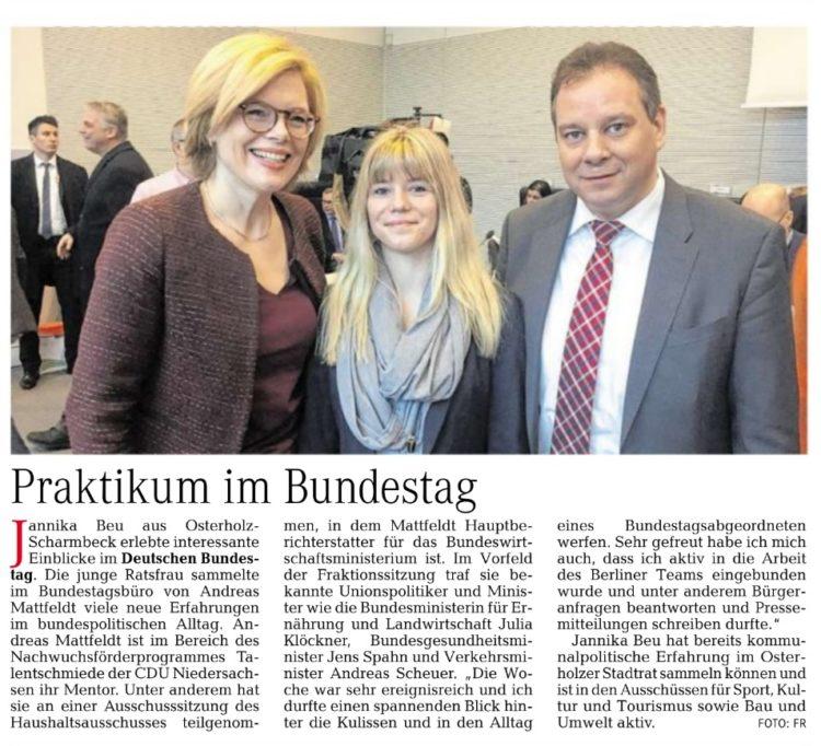Praktikum im Bundestag