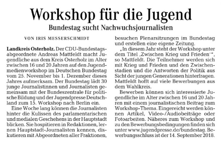 Jugendmedienworkshop