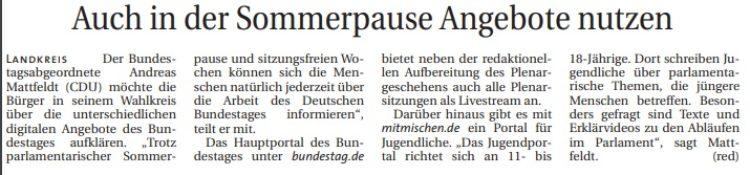 Digitale Angebote des Bundestages nutzen