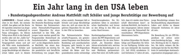 Mit dem Bundestag in die USA